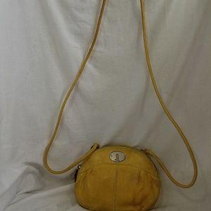 b8,295 Fossil Yellow Cross Body Shoulder Bag